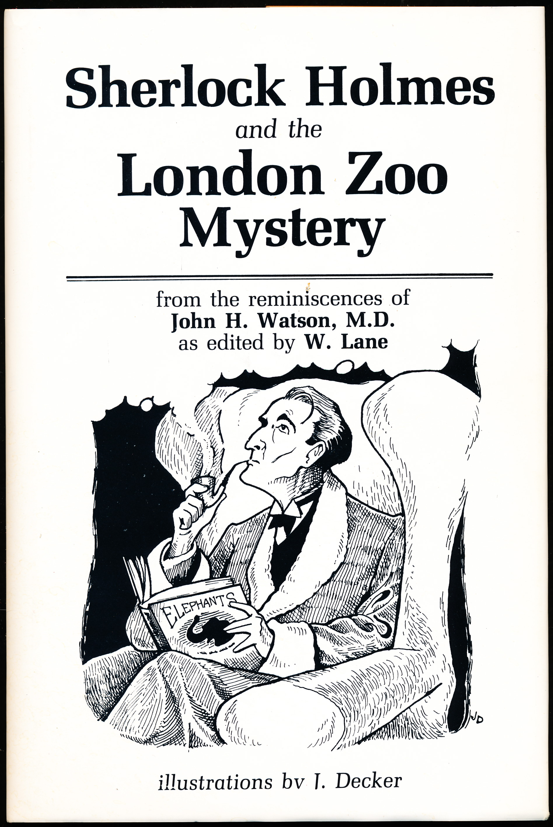 Image for SHERLOCK HOLMES AND THE LONDON ZOO MYSTERY